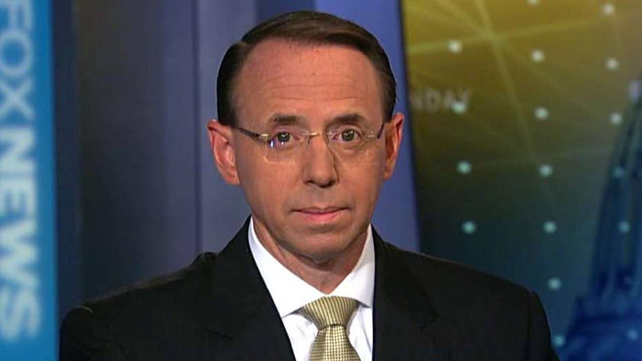 Rod Rosenstein addresses efforts to stop White House leaks