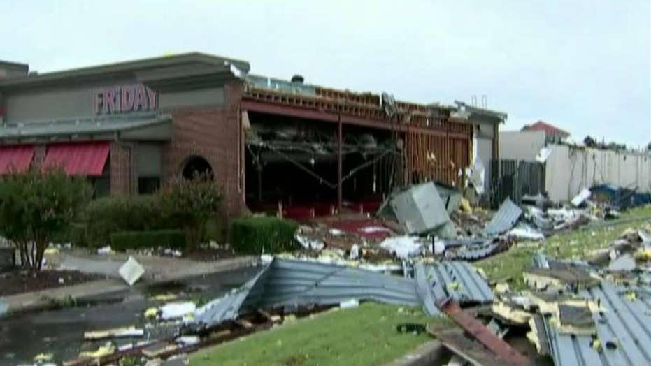 Possible tornado, heavy storms sweep Oklahoma