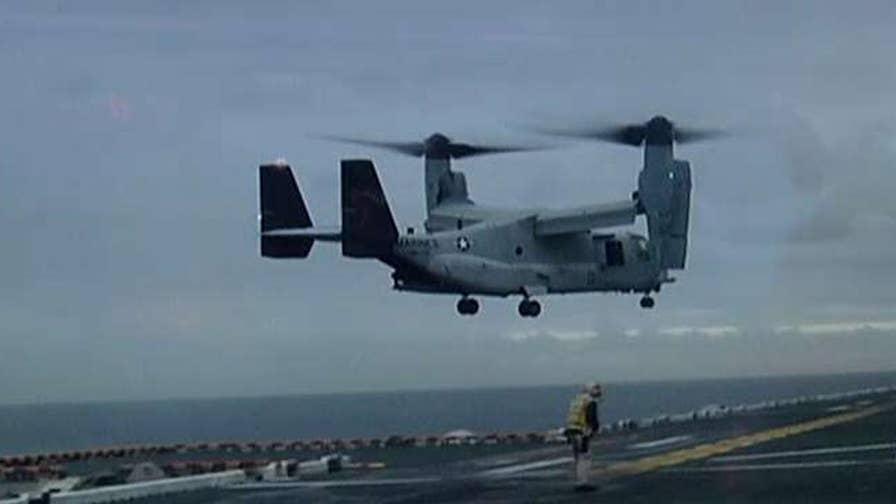 MV-22 crashed off coast of Australia
