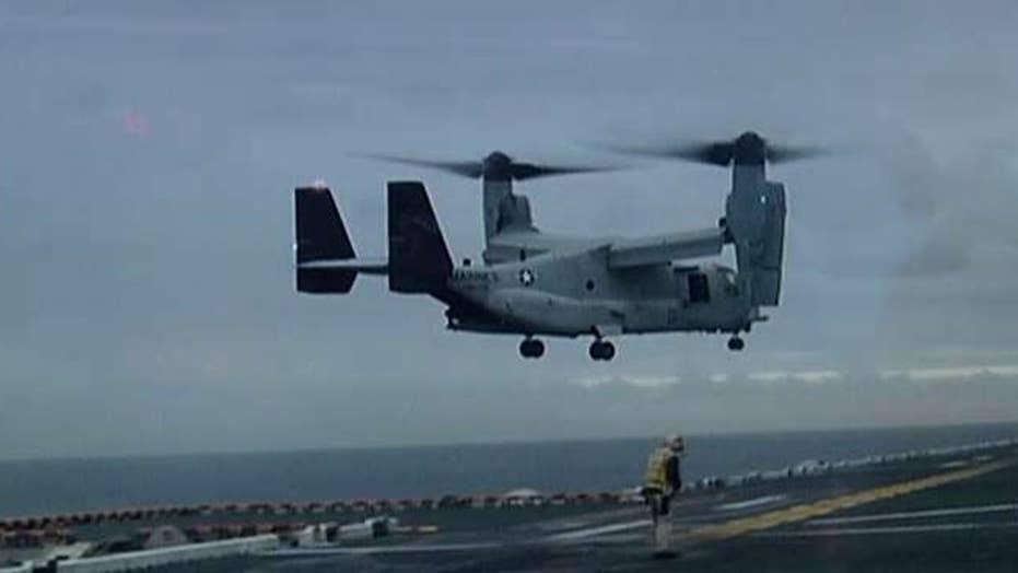Marines declare 3 missing from Osprey crash 'deceased'