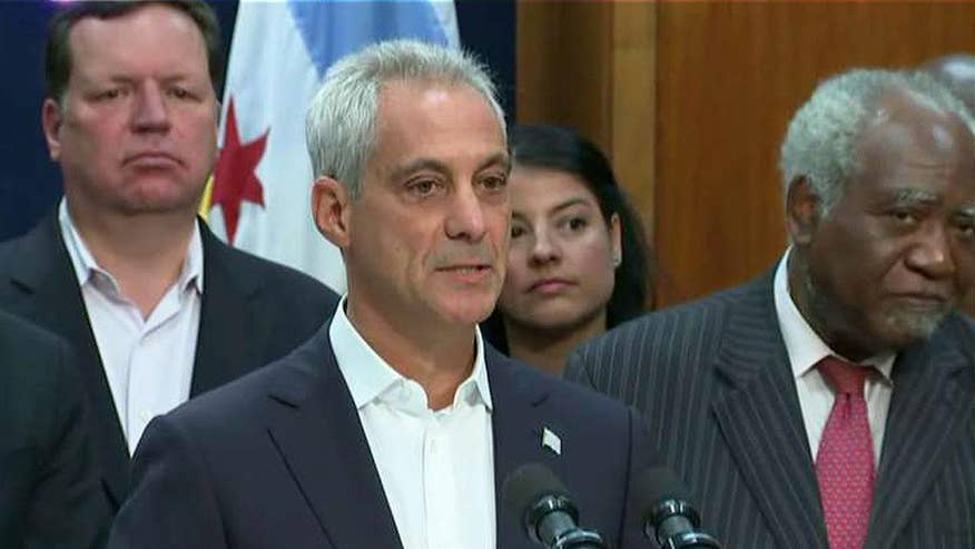 Mayor Rahm Emanuel fighting back against the Trump administration; reaction and analysis on 'The Five'