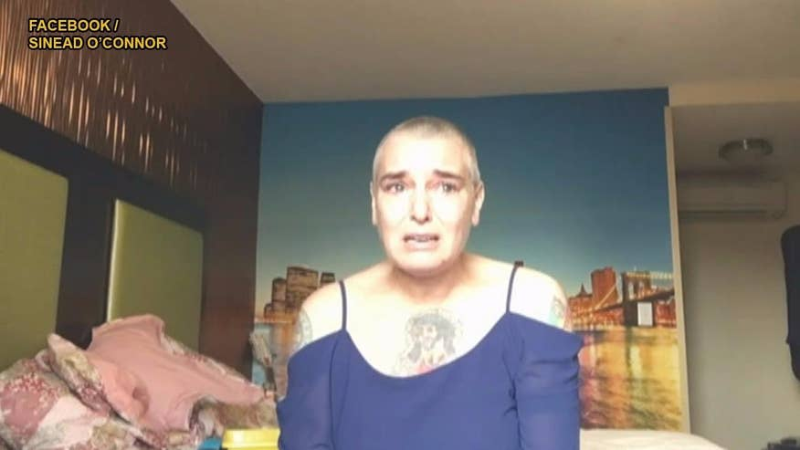Fox411: Troubled singer Sinead O'Connor has posted an online video saying she's suicidal - and living in a motel 'in the arse end of New Jersey'