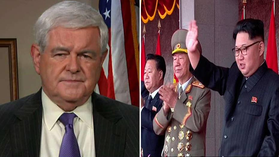 Newt Gingrich on steps the US can take to defeat North Korea