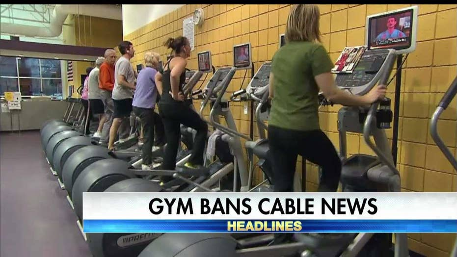 Gym bans cable news channels.
