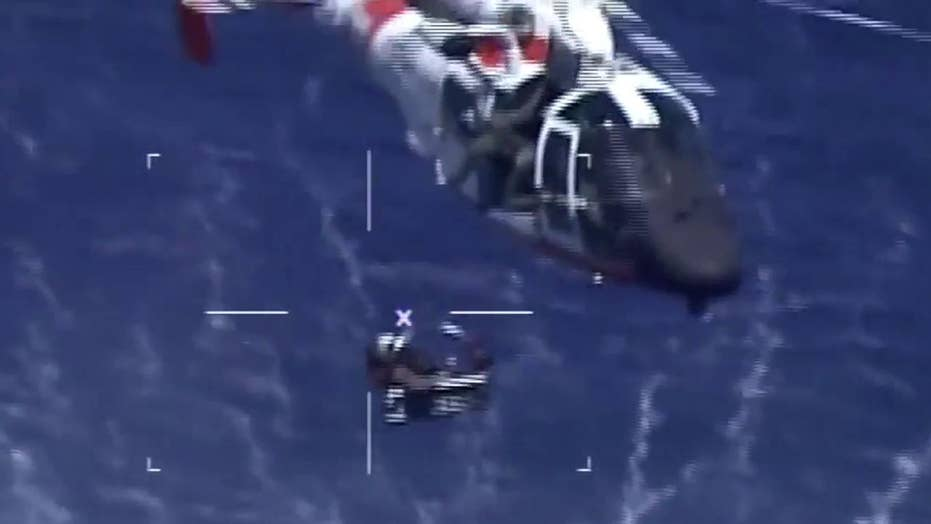 Coast Guard rescues Navy pilot from water after jet crash