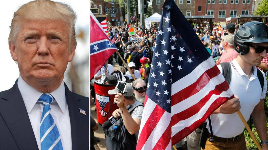 President Trump addresses Charlottesville unrest in tweet