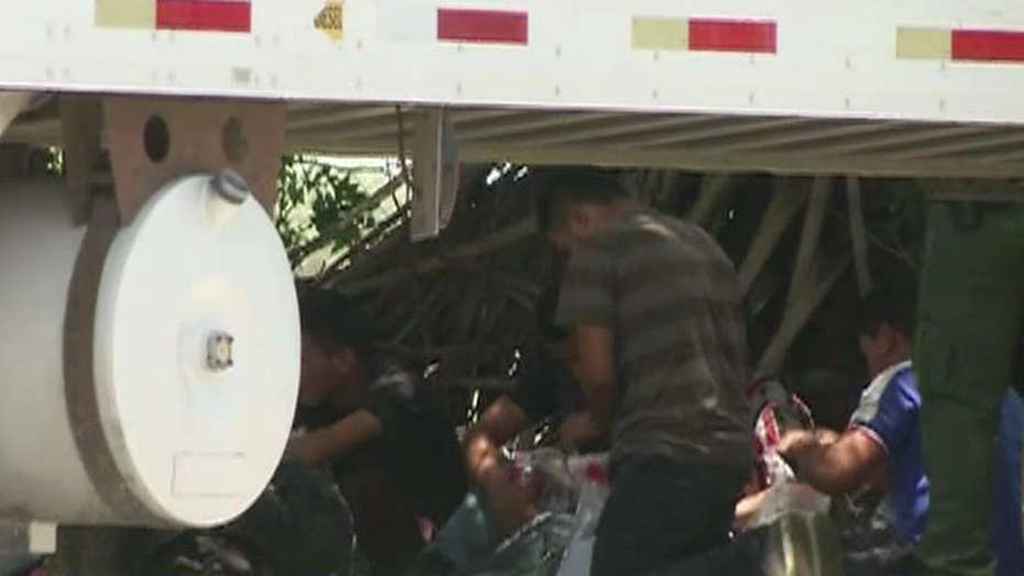 Illegal immigrants found in hot big-rig in Texas