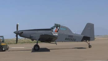 The US Air Force reveals a powerful demonstration of light attack aircraft at its OA-X demo at Holloman Air Force Base. That experiment included Air Tractor's AT-802 crop duster 'Longsword' configuration