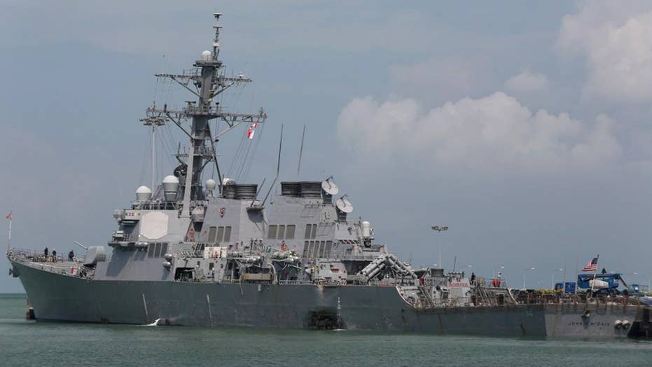 Soldiers missing after Navy destroy collides with oil tanker