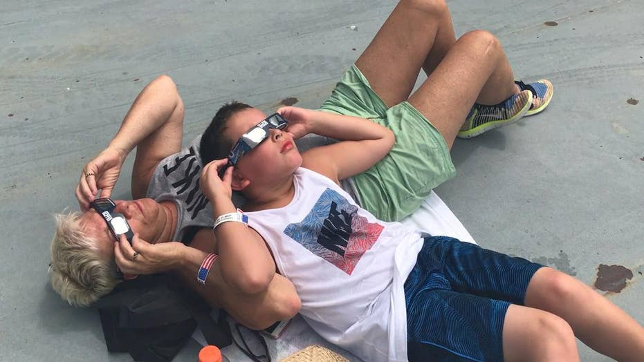 Thousands flock to Charleston to see last leg of the eclipse