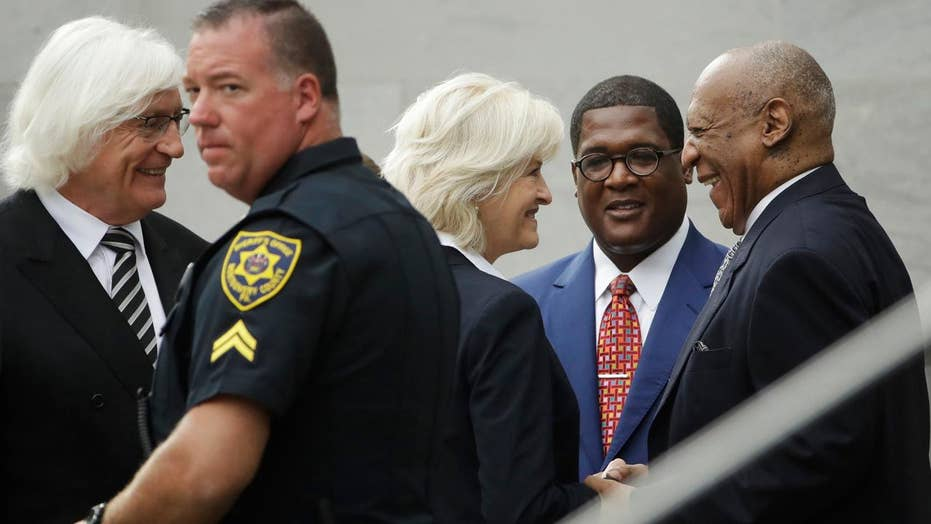 Bill Cosby arrives at court for pretrial conference