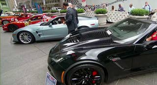 A look at America's sports car with all seven generations on the plaza