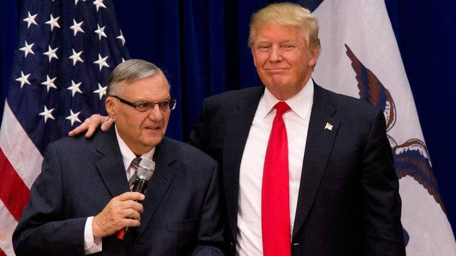 President Trump hints at pardon for Joe Arpaio