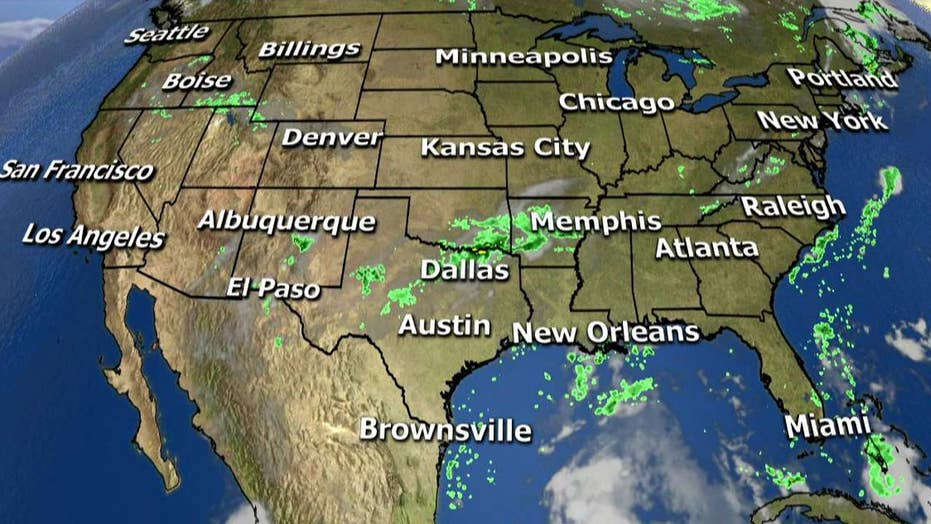 National forecast for Wednesday, August 23