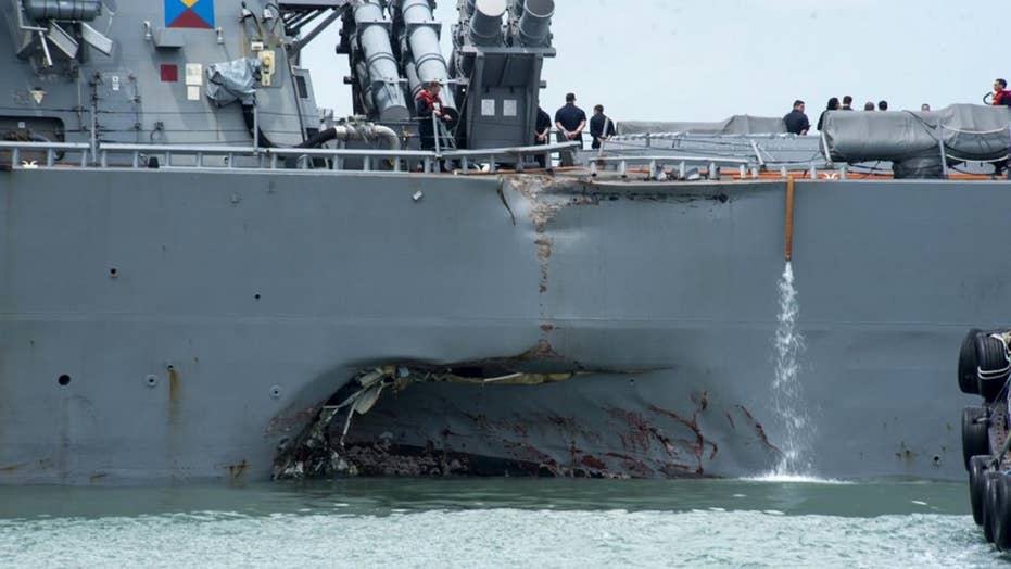 Navy calls for review after warship collision