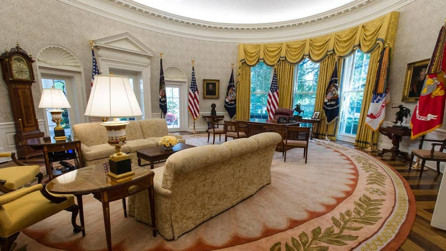 The White House renovations are revealed. Officially dubbed the 'West Wing Phase Two Renovations,' the $3.4 million overhaul includes updates to the Roosevelt Room, South Portico and the Oval Office