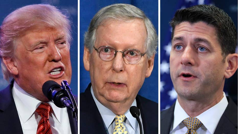 Trump blames McConnell, Ryan for looming debt ceiling battle