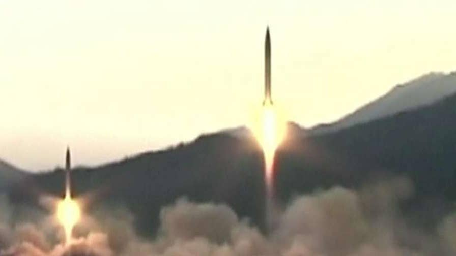 Two missiles flew successfully, third exploded immediately after launch