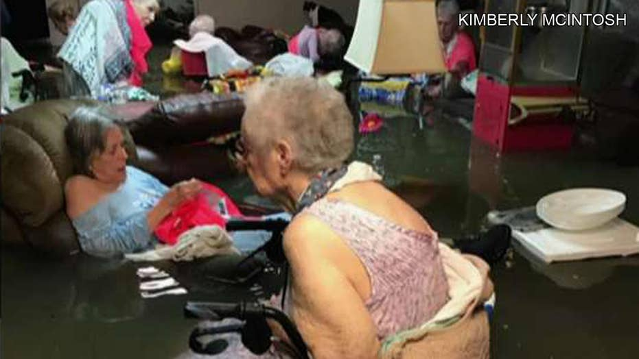 Scenes of Harvey's devastation posted to social media