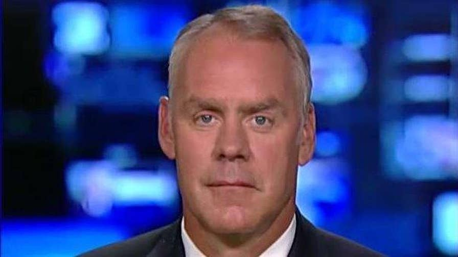 On 'The Story,' the Interior secretary discusses the government's recovery efforts in Harvey's aftermath