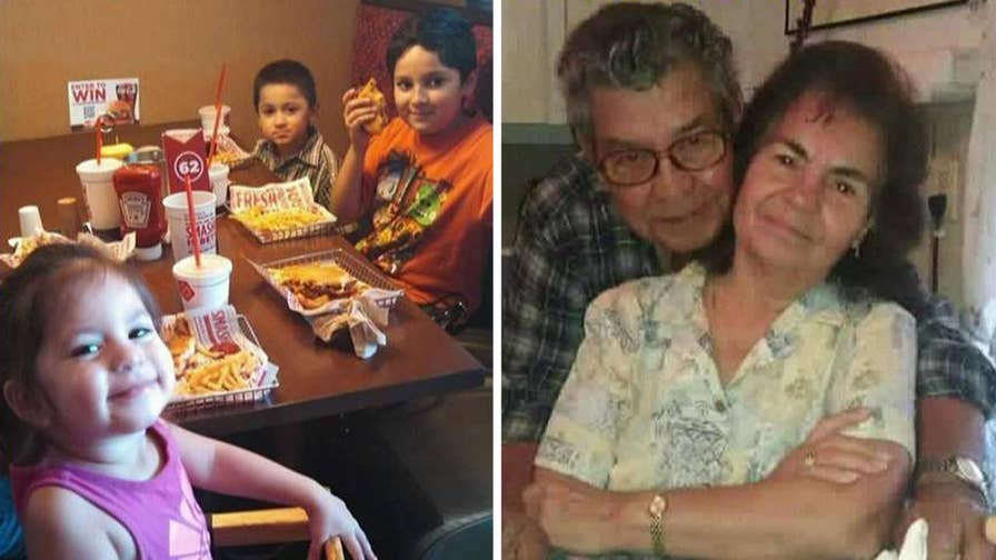 Van with four children and their great-grandparents swept away by floodwaters