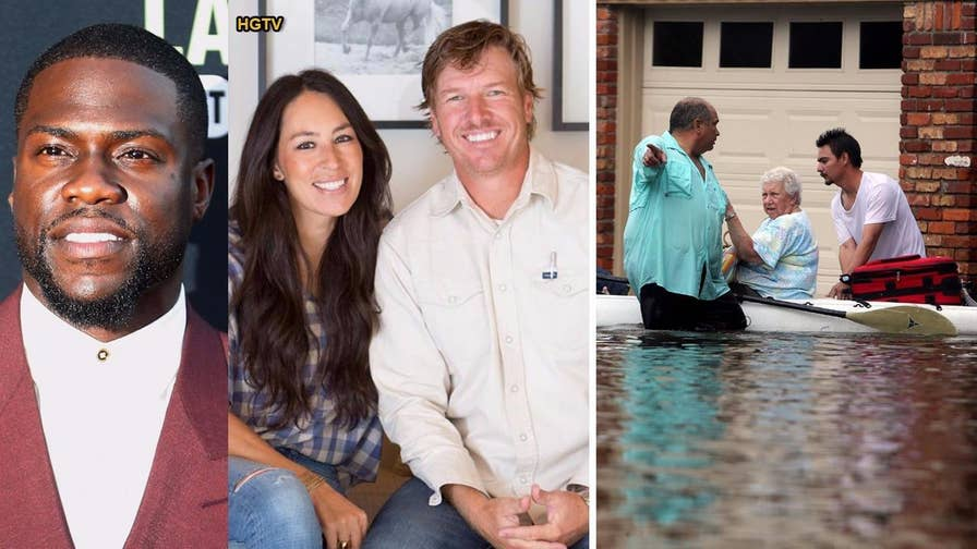 Fox411: Kevin Hart, JJ Watt and Chip and Joanna Gaines are some of the celebrities sending support to people in Houston and other parts of Texas affected by Hurricane Harvey through large charitable donations