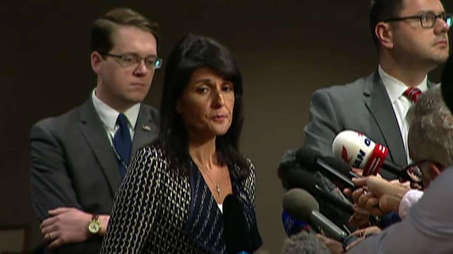 Amb. Nikki Haley calls for new sanctions saying 'Enough is enough'