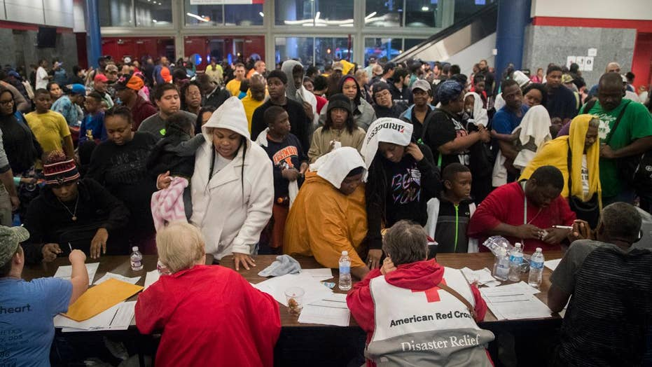Over 9,000 seek shelter in Houston's convention center