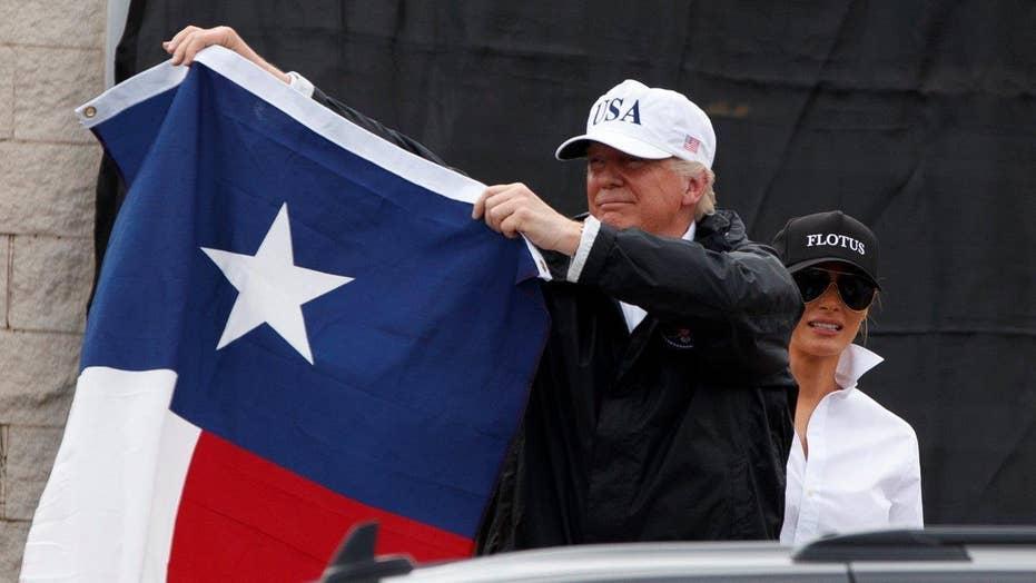 Trump sets historic standard for Texas relief effort