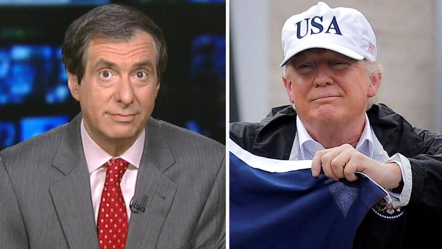 'MediaBuzz' host Howard Kurtz weighs in on the media criticizing President Trump for not showing as much empathy toward disaster victims as previous presidents