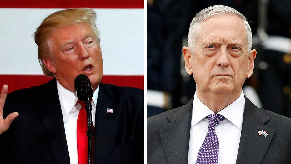 Trump talks tough, while Mattis weighs diplomacy for NKorea