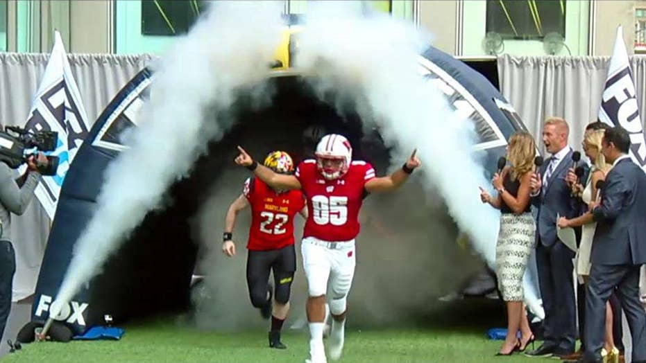 Fox Sports kicks off college football season on FNC plaza