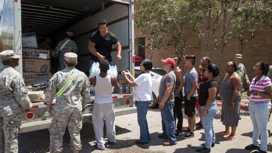 US military bringing in resources to aid Harvey relief