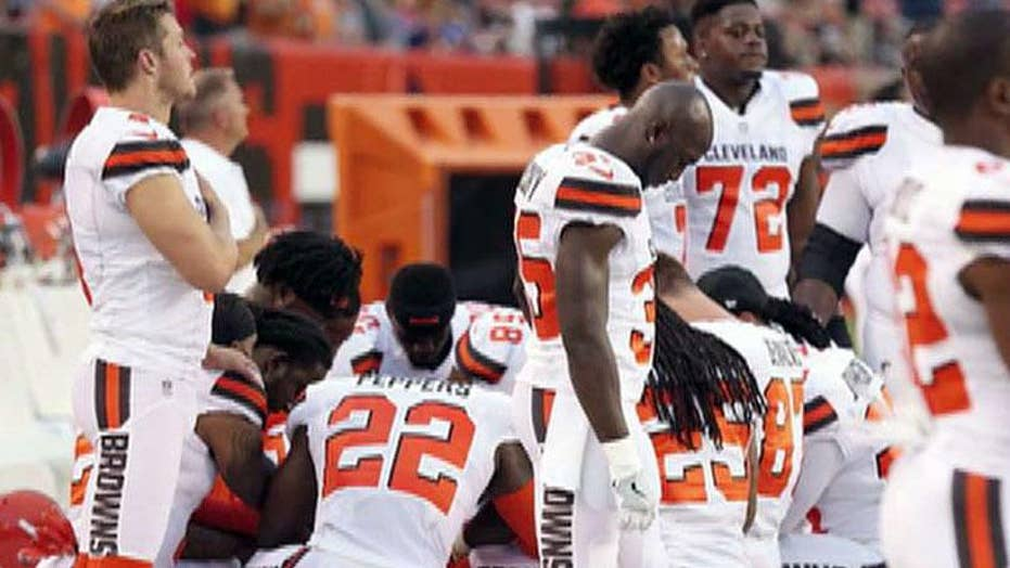 Cleveland police, EMS unions won't hold flag for Browns game