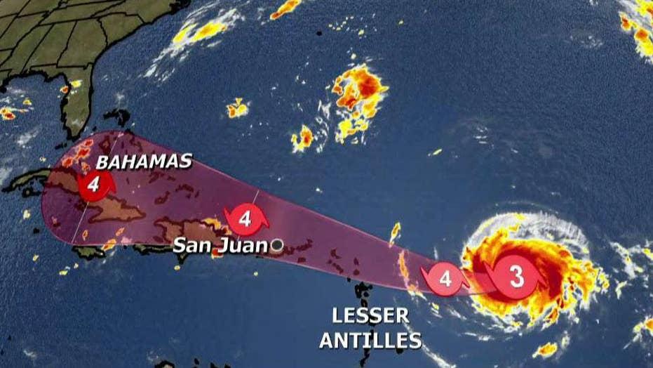 Forecasters track Hurricane Irma's path toward US