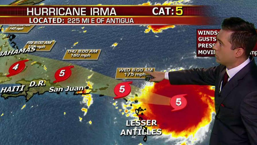 Hurricane watches and warnings stretch across Caribbean islands; Adam Klotz reports from the Fox Extreme Weather Center