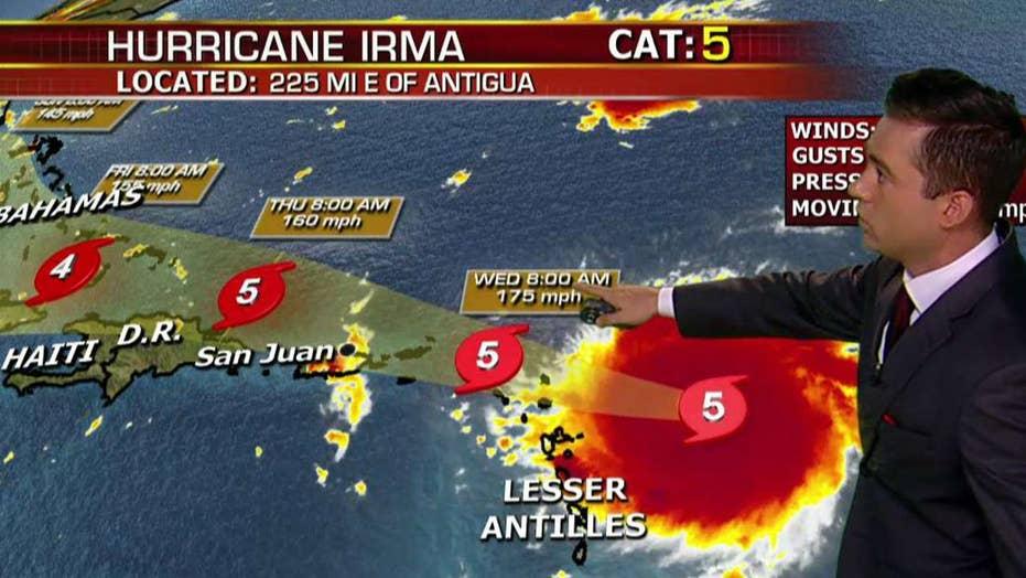 Steering winds key to powerful Hurricane Irma's path