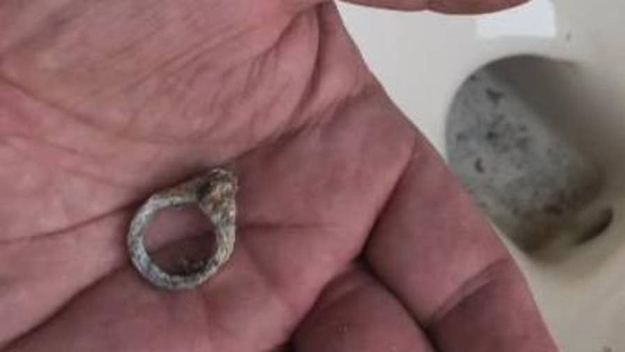 The ring was lost when their then-3-year-old got a hold of it