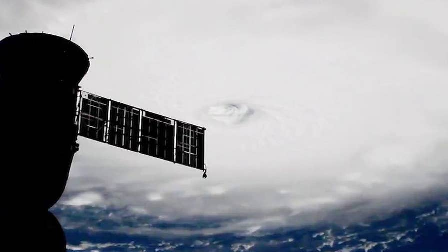 The International Space Station captured a view of Hurricane Irma from space as it moved across the Atlantic Ocean on September 5