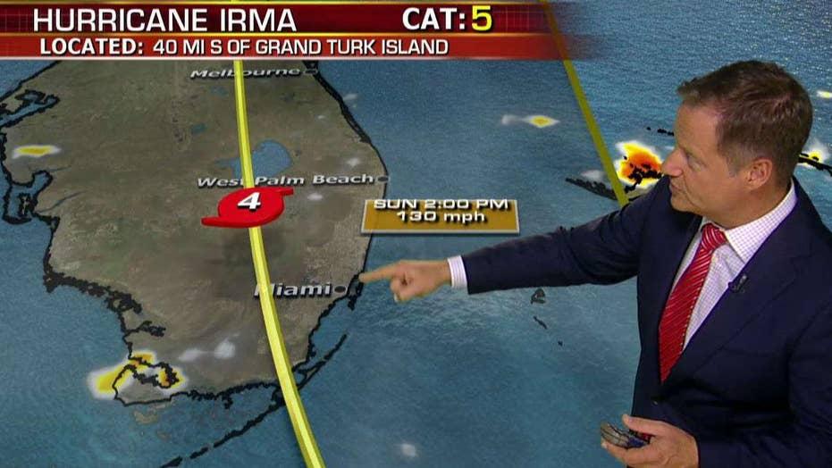 Forecasters predict slight shift in Hurricane Irma's track