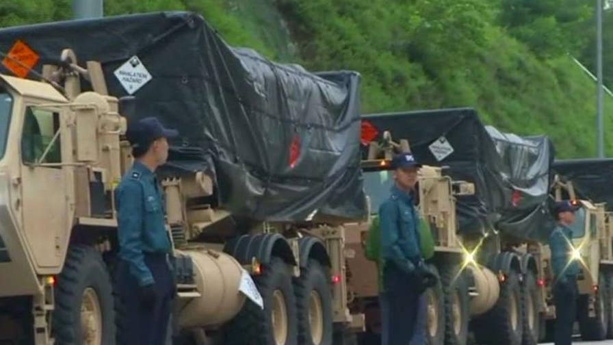 U.S. military deploys anti-missile system; Greg Palkot reports from Seoul