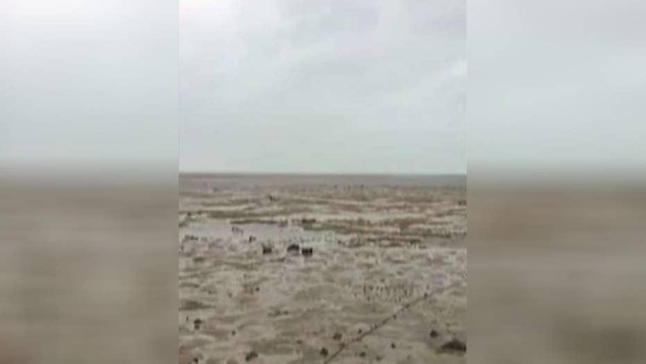 Hurricane Irma sucks water away from Bahamas coast