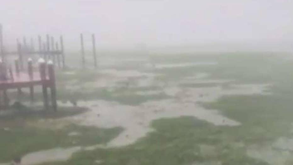 Hurricane Irma pulls water away from Key Largo coast