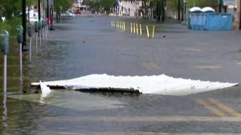 Officials concerned about approach high tide as Irma pushes St. John's river into downtown Jacksonville; Peter Doocy reports