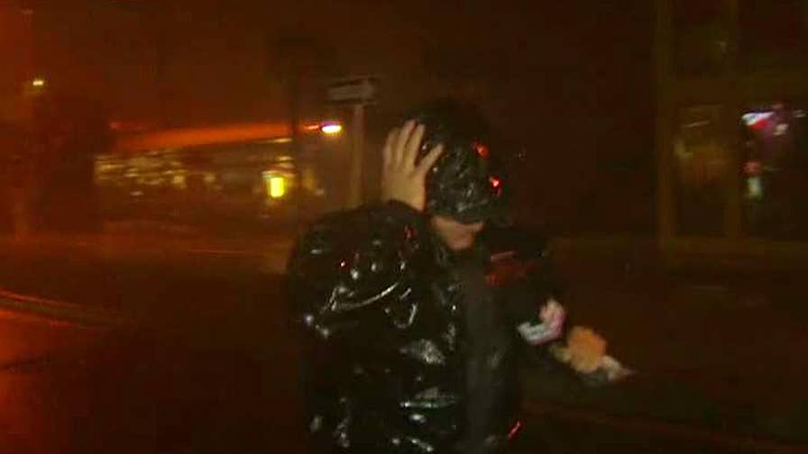 Rick Leventhal buffeted by intense wind as Hurricane Irma crawls up the Florida peninsula