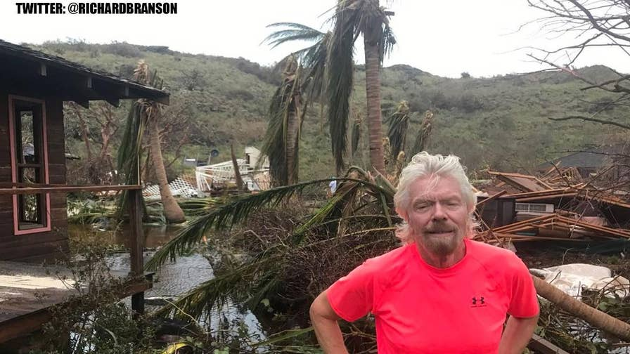 Richard Branson reveals Hurricane Irma's destruction on his private island, Necker Island, on social media and suggests a plan for recovery