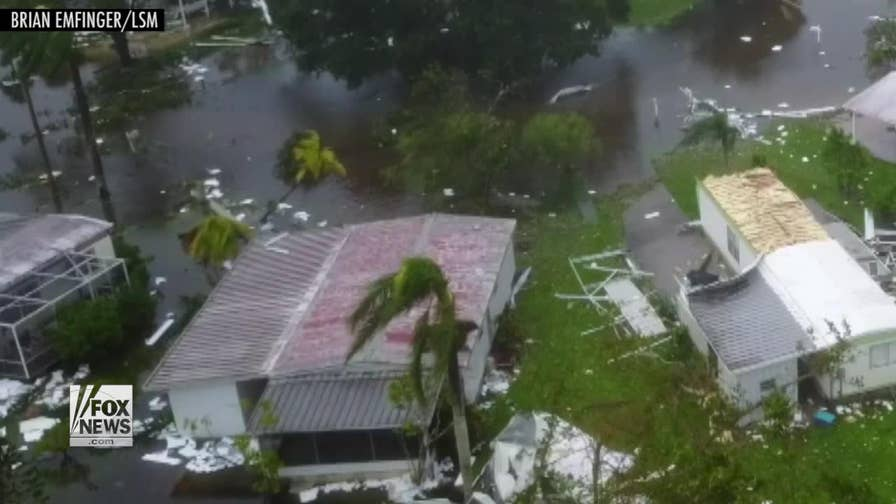 Incredible drone footage of Hurricane Irma's path of destruction in Naples, Florida
