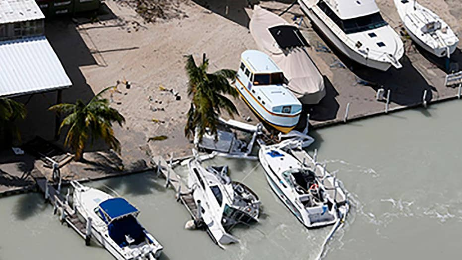 Irma's storm surge causes widespread damage in the Keys