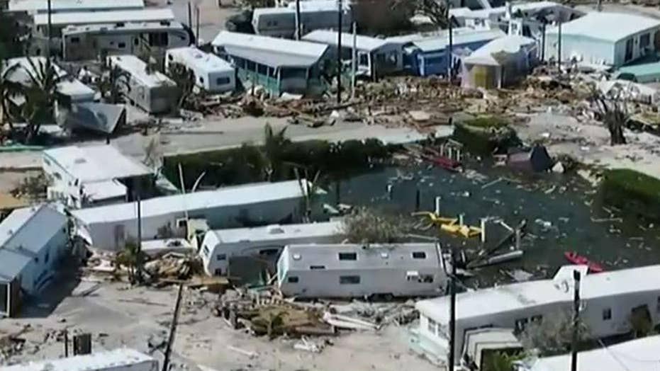 Drone footage reveals staggering damage in Florida Keys