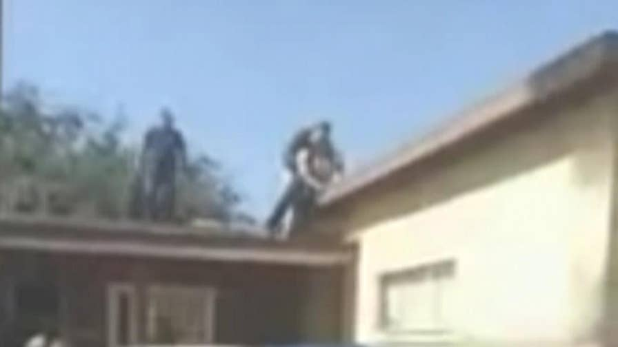Video shows ending of hours-long standoff